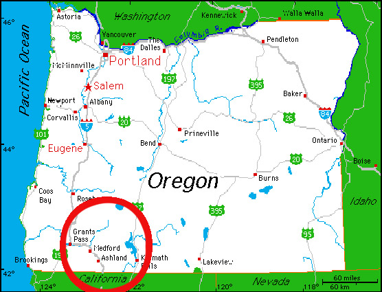About Us - Oregon map us
